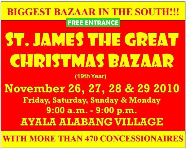 Cuenca Bazaar Schedule 2010