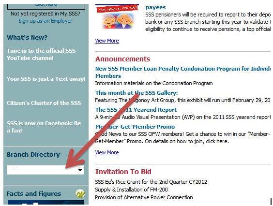 SSS Branch Directory