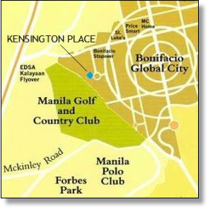 kensington place bonifacio global city map