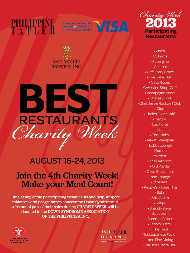 Philippine Tatler Best Restaurants Charity Week 2013