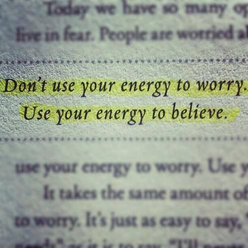 worry and energy