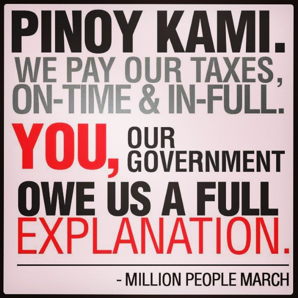 no to pork barrel million people march