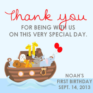 Noah Thank You Favor Tag