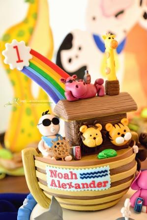 Noah Turns One: Birthday Cake by Tazzy Cakes