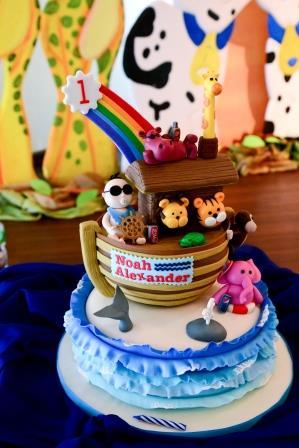 Tazzy Cakes Noahs Ark Birthday Cake