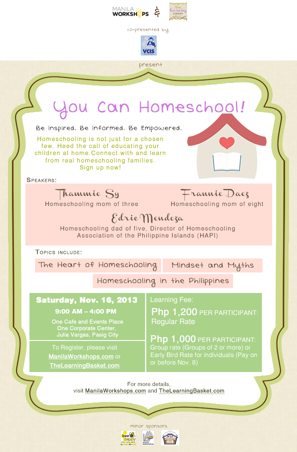 Interested in homeschooling? There's a workshop for that!