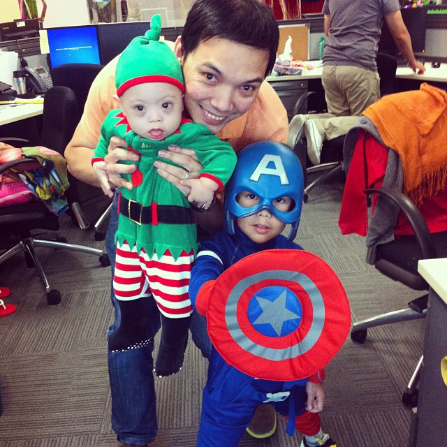 Tricks and Treats from Santa's Elf and Captain America