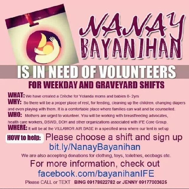 #YolandaPh – Relief for the Moms and Babes and Some Info on Villamor