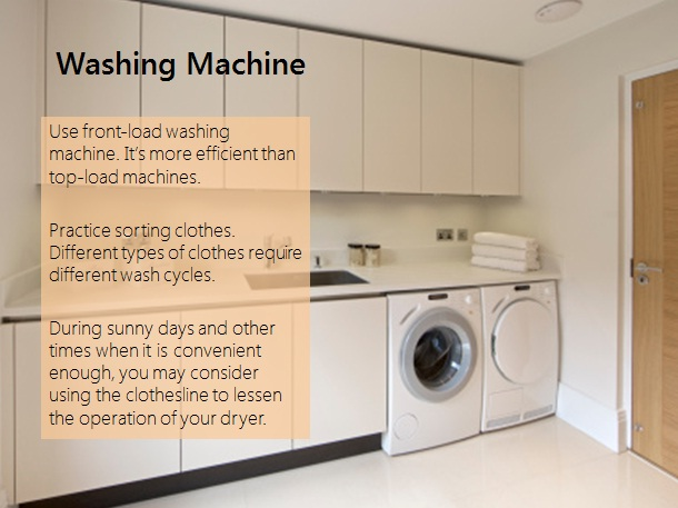 meralco energy efficiency washing machine tips