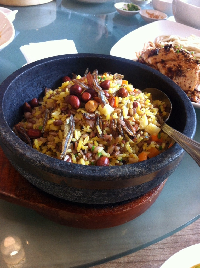 Fried Mixed Rice in Hot Stone Pot Crystal Jade Greenhills