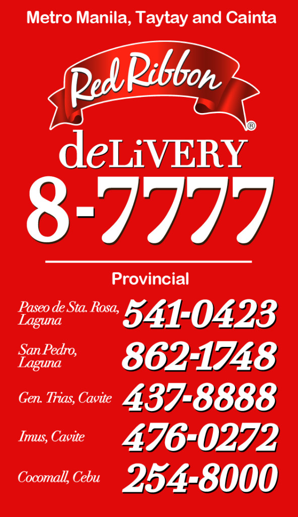 red ribbon delivery hotlines