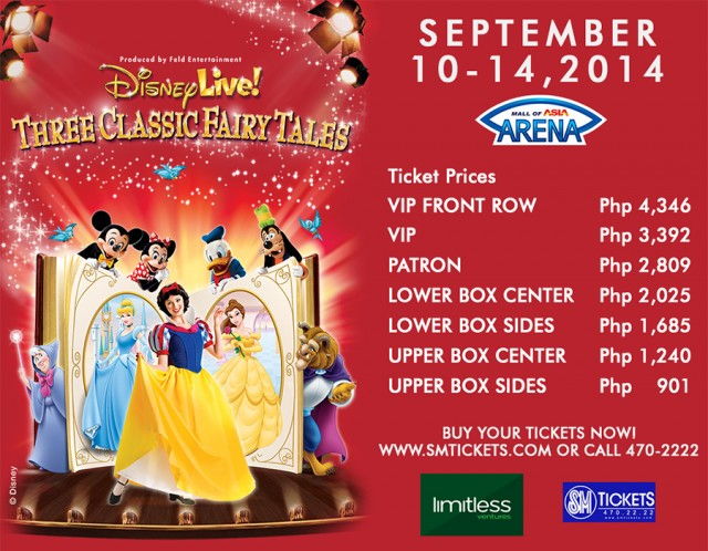 disney live classic fairytales ticket prices