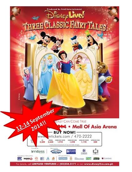 Disney Live Three Classic FairyTales New Dates