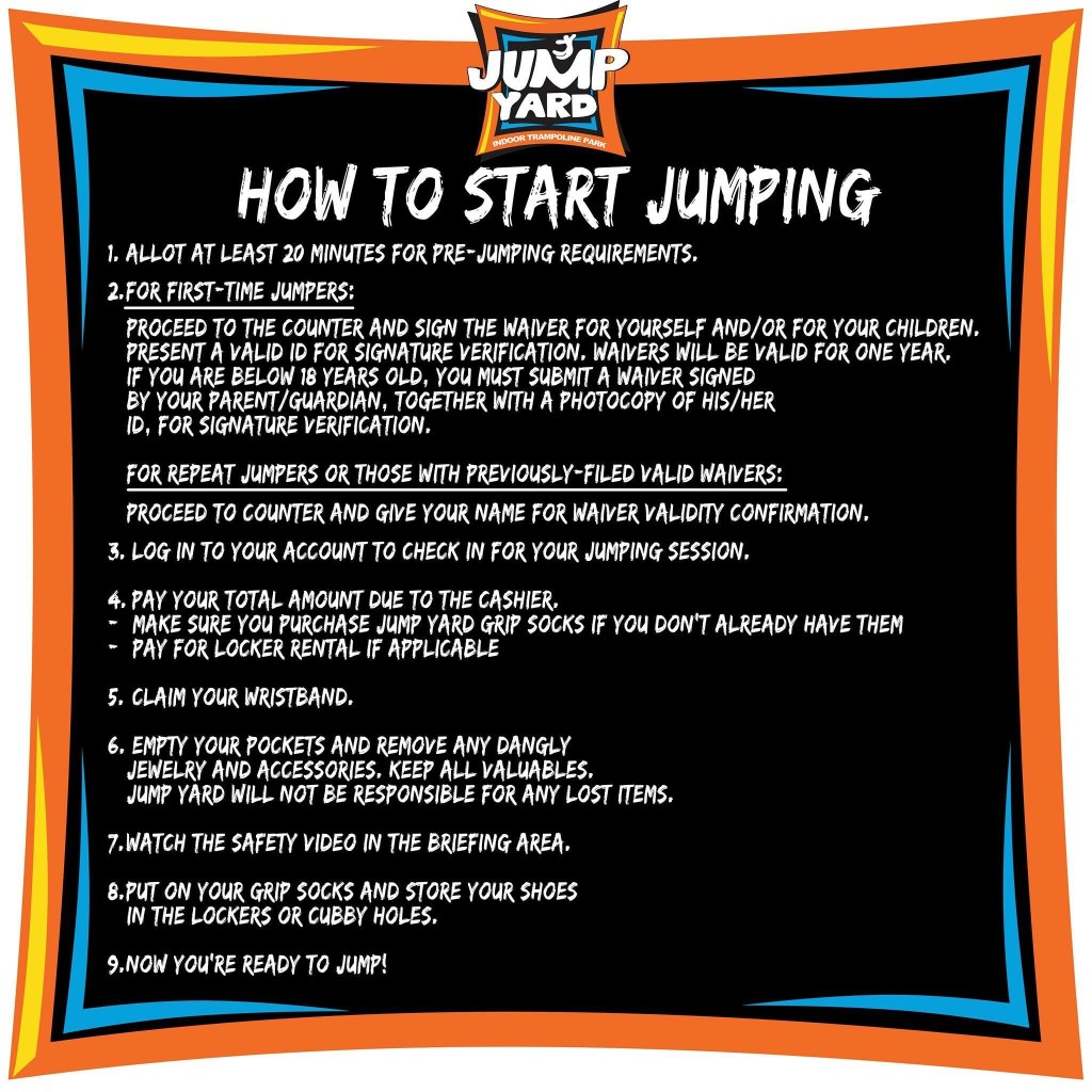 JumpYard Indoor Trampoline Park Tiendesitas Fun Ranch Guideline