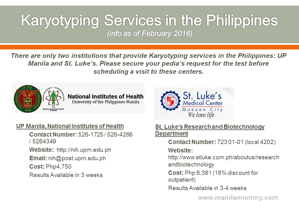 Karyotyping Services in the Philippines