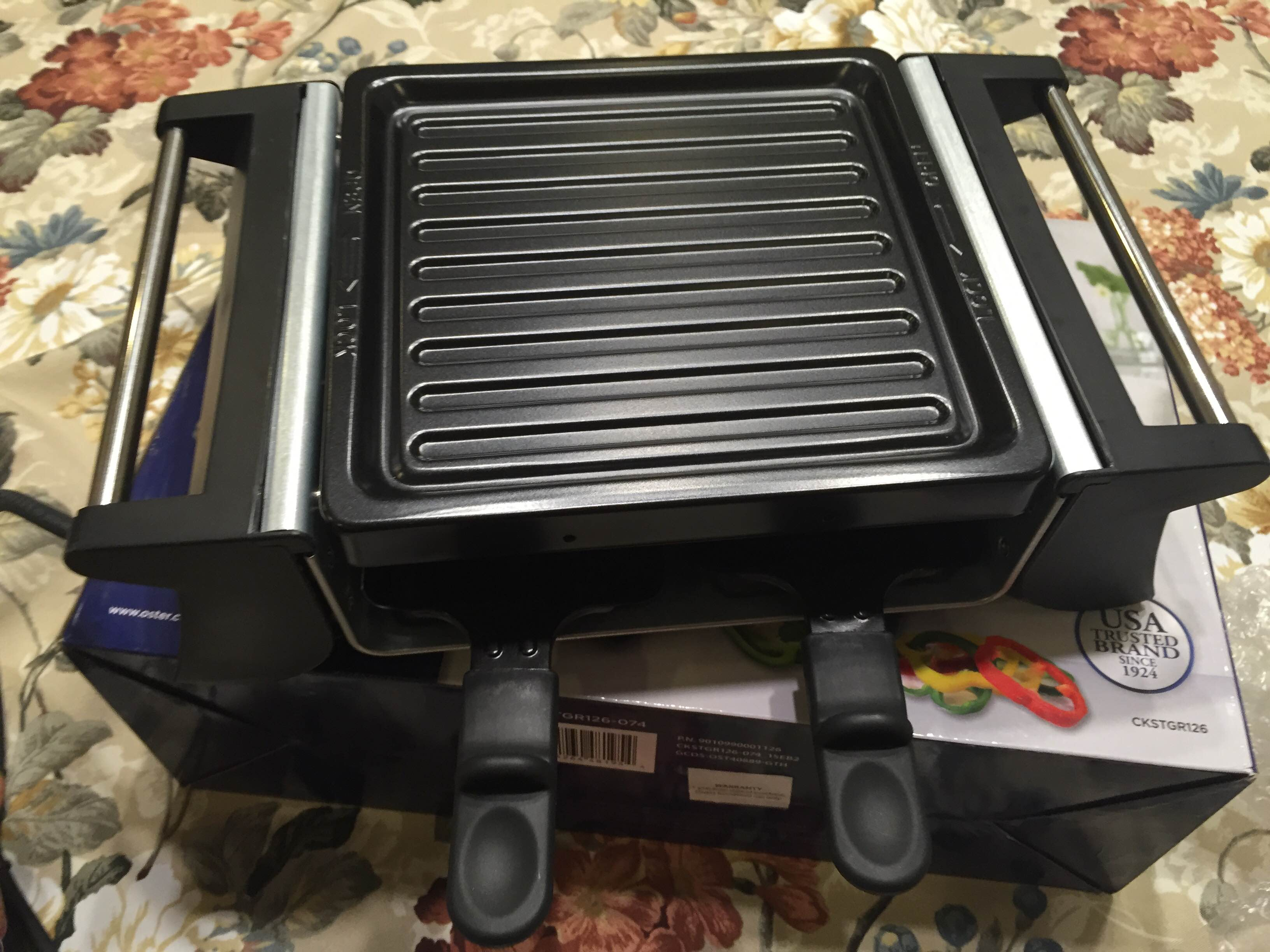 review and giveaway win an oster mini raclette grill. Black Bedroom Furniture Sets. Home Design Ideas