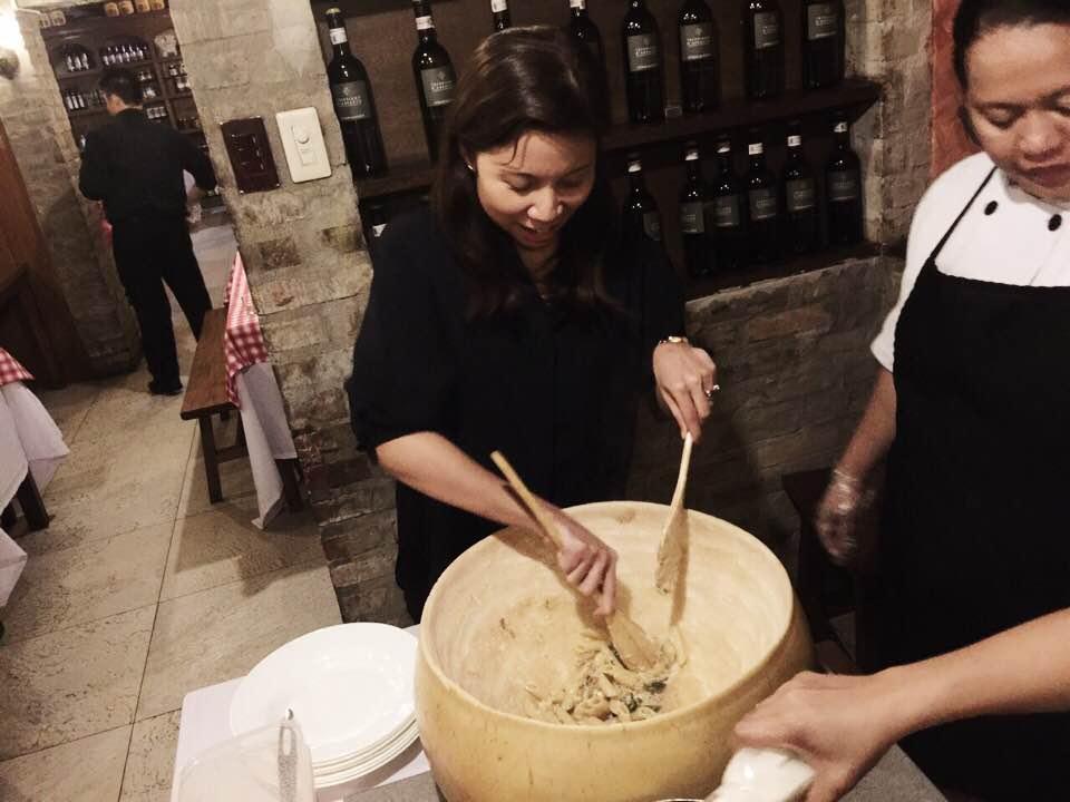 galileo enoteca cheese wheel pasta 3