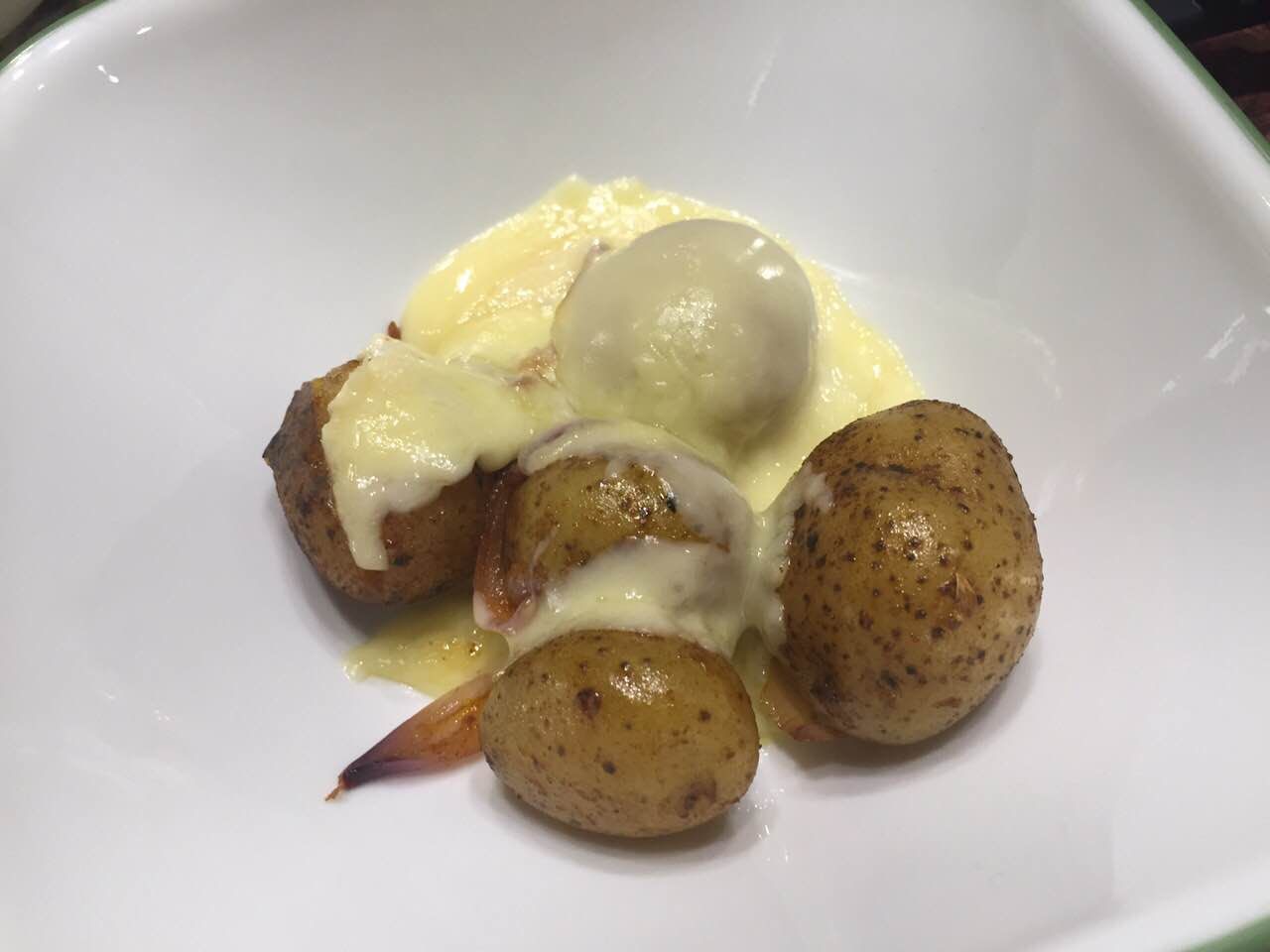 raclette and roasted potatoes