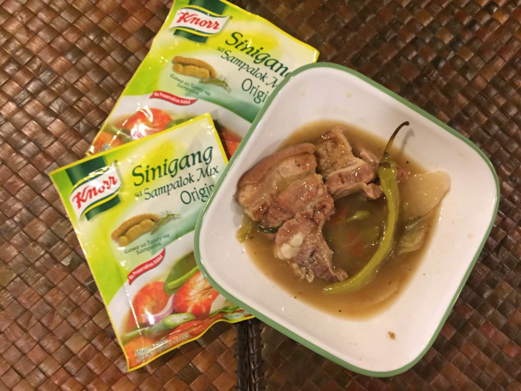 sinigang with inihaw na liempo