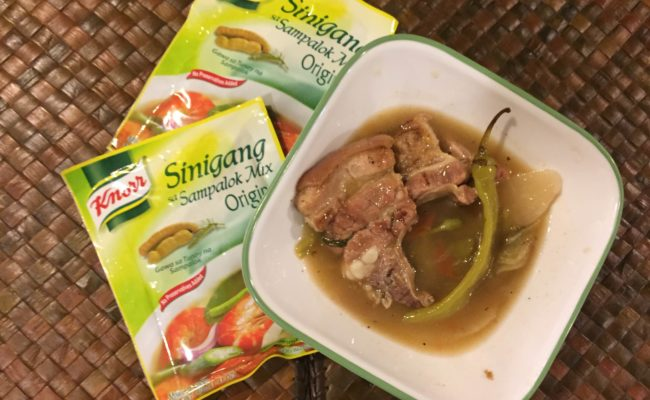 Recipe: Sinigang with Inihaw na Liempo