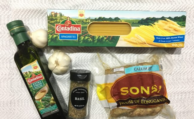 Super Easy Pinoy Pasta with Calumpit Longganisa